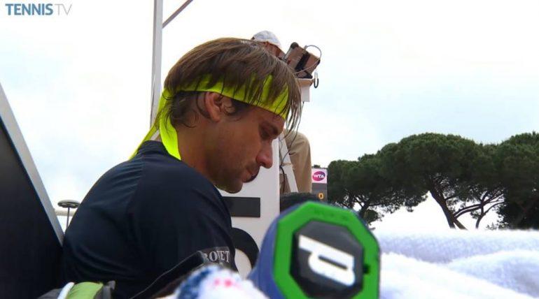 David Ferrer en Roma