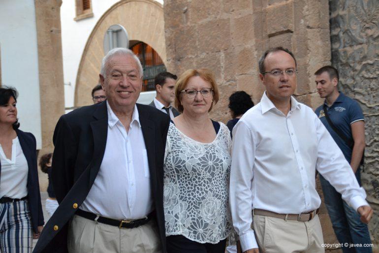 García Margalló con Tere Ern y Alberto Tur