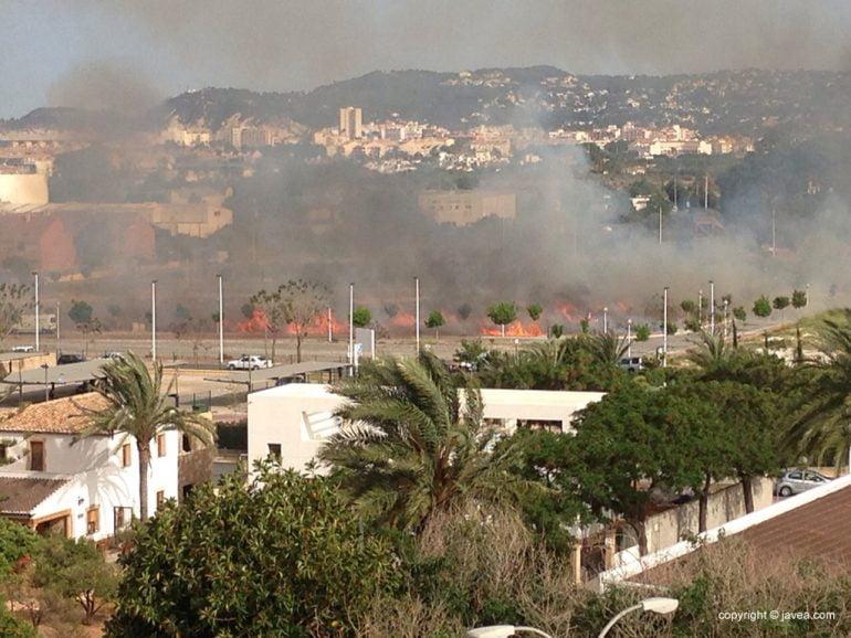 Parcelas incendiadas en Jávea