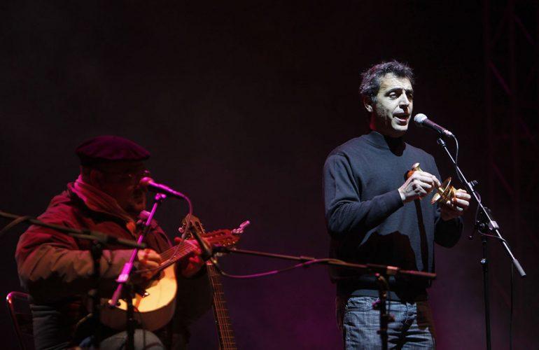 Pep Gimeno durante un concierto