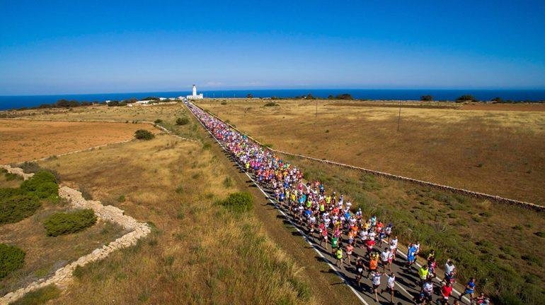 Salida de la media maratón de Formentera