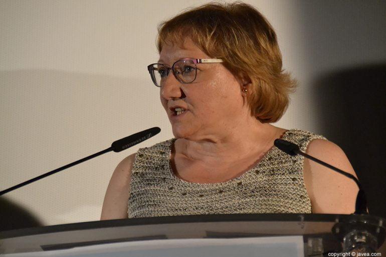 Teresa Ern durant el seu discurs