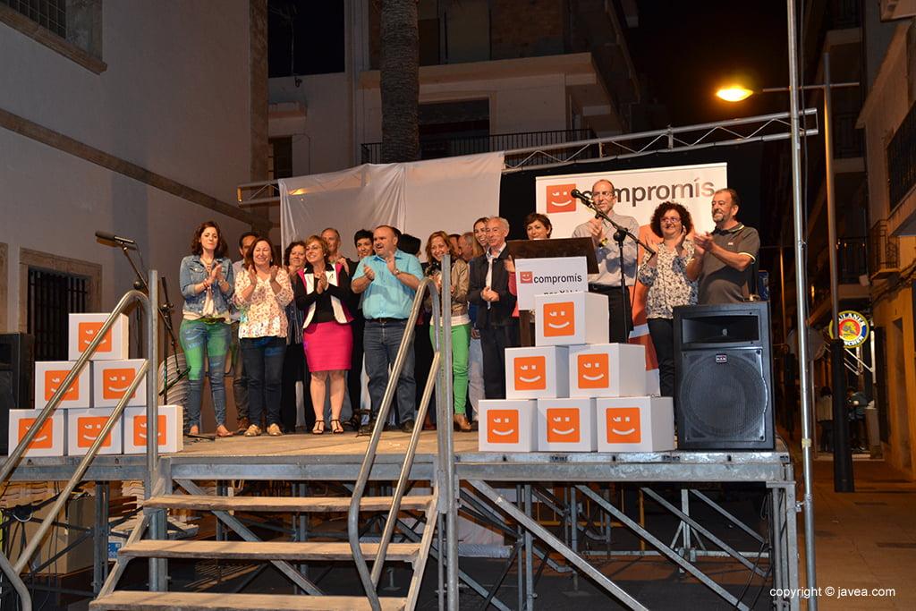 Vicent Colomer amb els membres de la seva candidatura