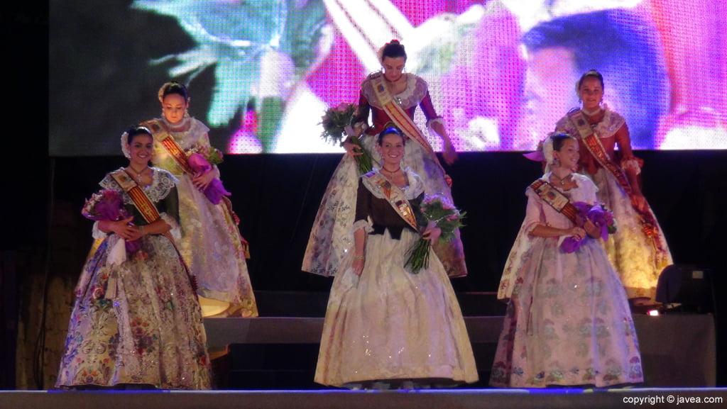 Proclamación Fogueres Xàbia 2015 – Reinas y damas 2014 y 2015