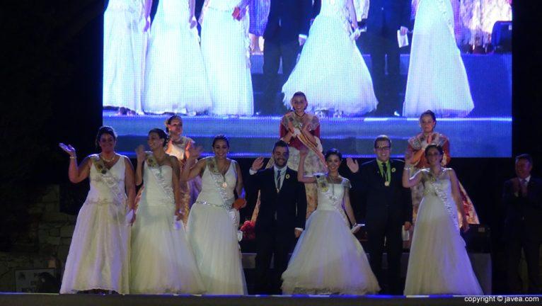 Proclamación Fogueres Xàbia 2015 - Representantes de las fiestas del Loreto