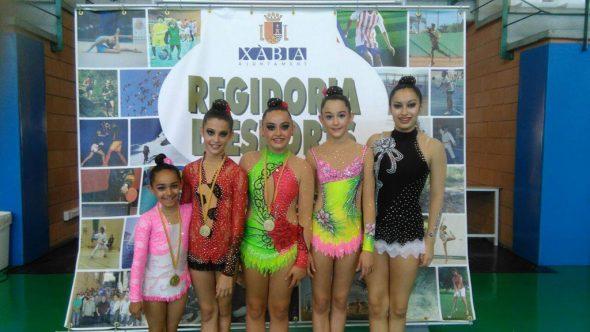 Gimnastas del Club deportivo Montgó-Xàbia
