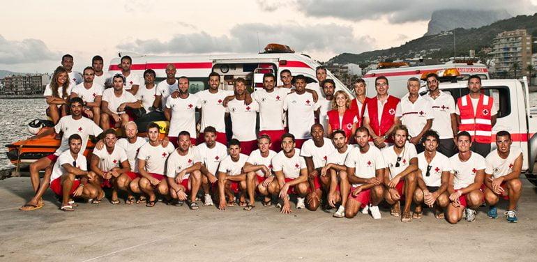 Voluntarios de Cruz Roja Xàbia
