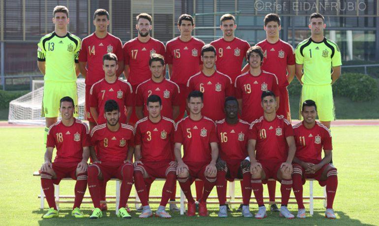Antonio Sivera con el resto de seleccionados Sub 19