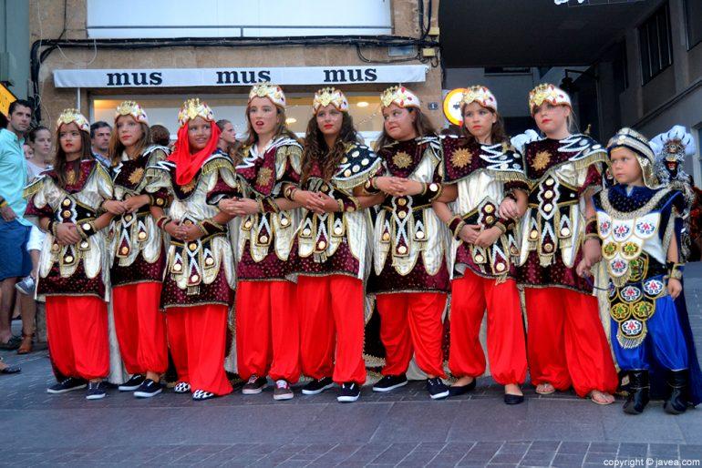 Escuadra infantil de Moros  en Jávea