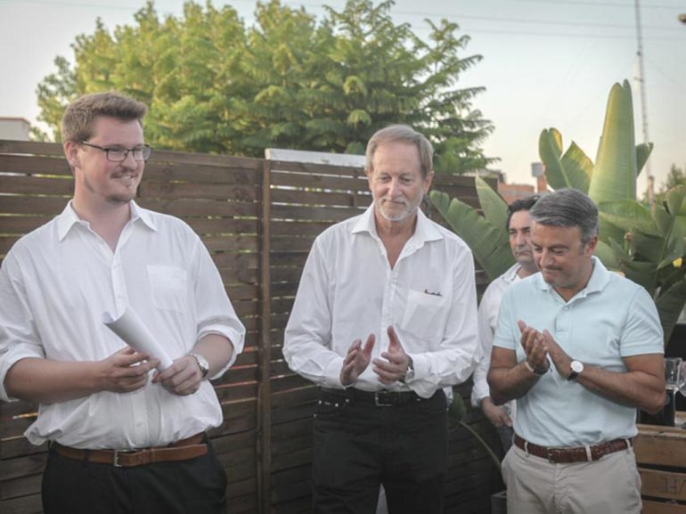 José Chulvi con los propietarios de TerraOne
