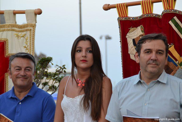 Mónica Leal junto a José Chulvi y Antonio Miragall