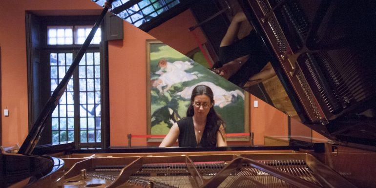 Marta Espinós con su piano