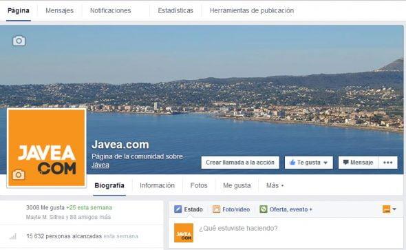 Página de Facebook de Javeacom