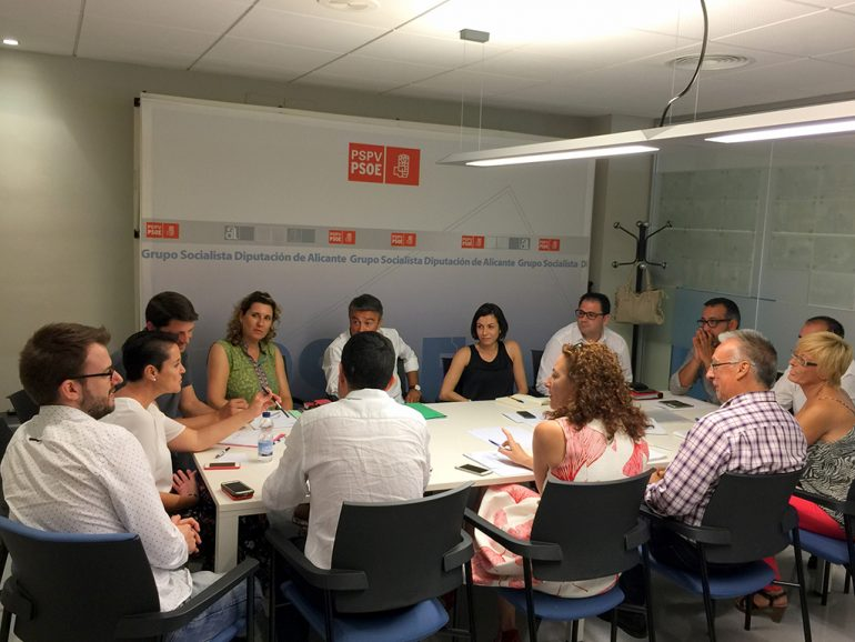 Reunión Grupo socialista en la Diputación