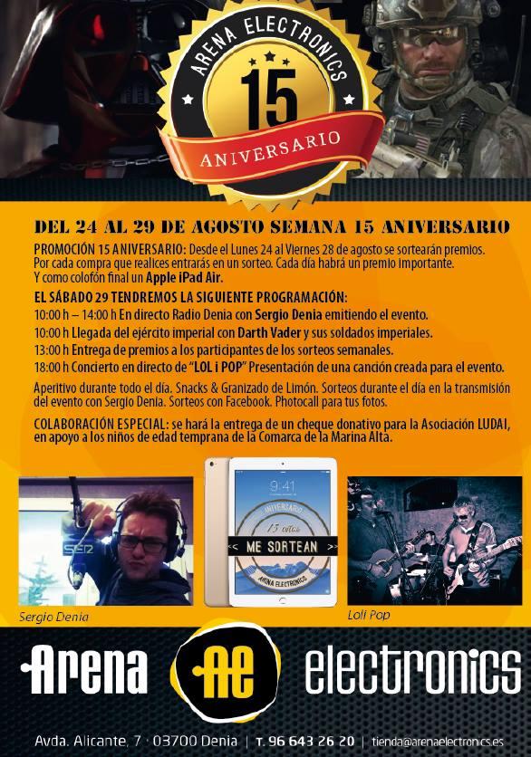 15 aniversario Arena Electronics