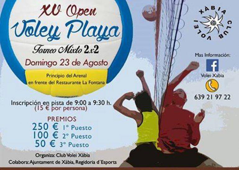 Cartel del torneo de Volei Playa de Xàbia