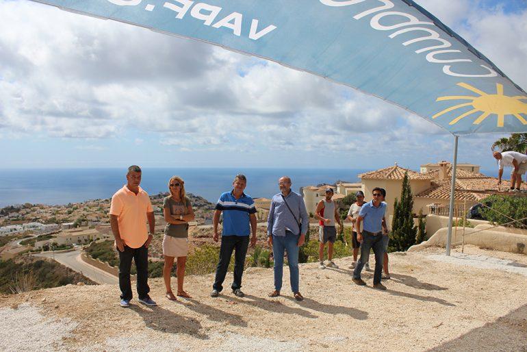 De visita en la línea de meta de la Vuelta Ciclista a España