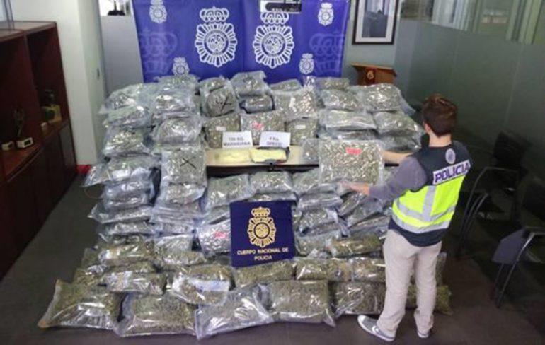 Drogas incautadas por la Policía Nacional