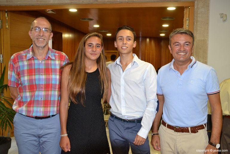 Julia Miñana, Siro Piña con José Chulvi y Vicent Colomer