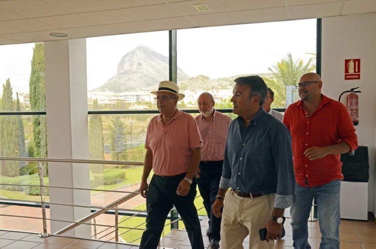 Visita del director general de agua a la desaladora de Xàbia