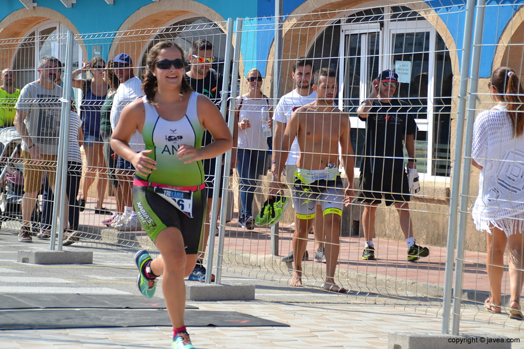 Ana Bisquert en el segmento de carrera a píe