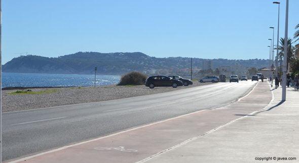 Imagen: Avenida del Mediterráneo en Xàbia