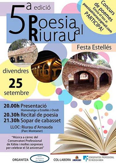 Cartel V edición de poesia al Riurau