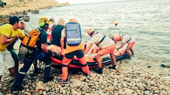 Evacuación por mar