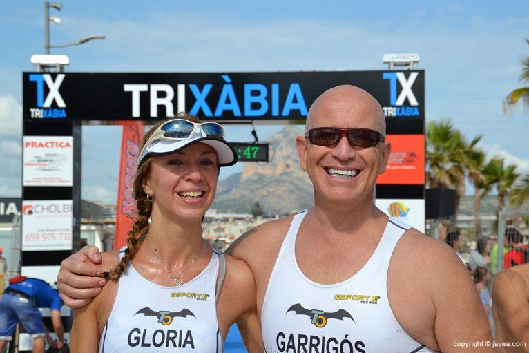Gloria Barberá y José Garrigós en meta