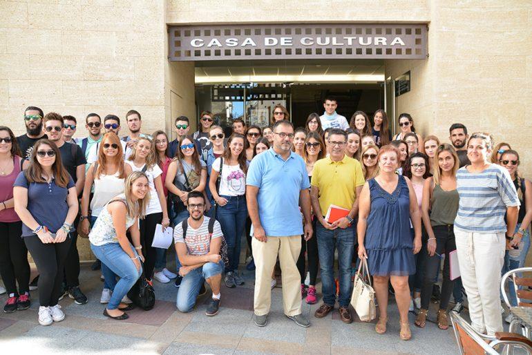 Grupo de alumnos de la Universitat d´Alacant de visita a Xàbia
