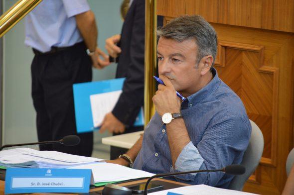 José Chulvi en el pleno de la Diputación de Alicante