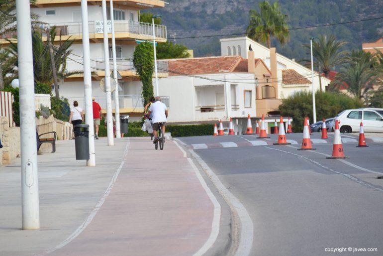 Tramo del carril bici en el Primer Montañar