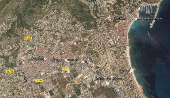 Xàbia mapa