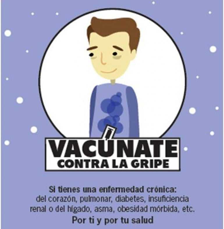 Cartel de la campaña de vacunación contra la gripe 2015