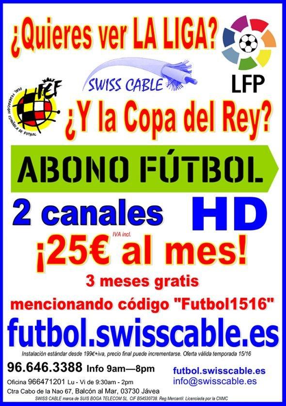 Flyer Abono fútbol 25e