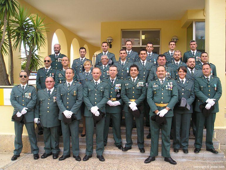 Guardias civiles de la Casa Cuartel de Xàbia