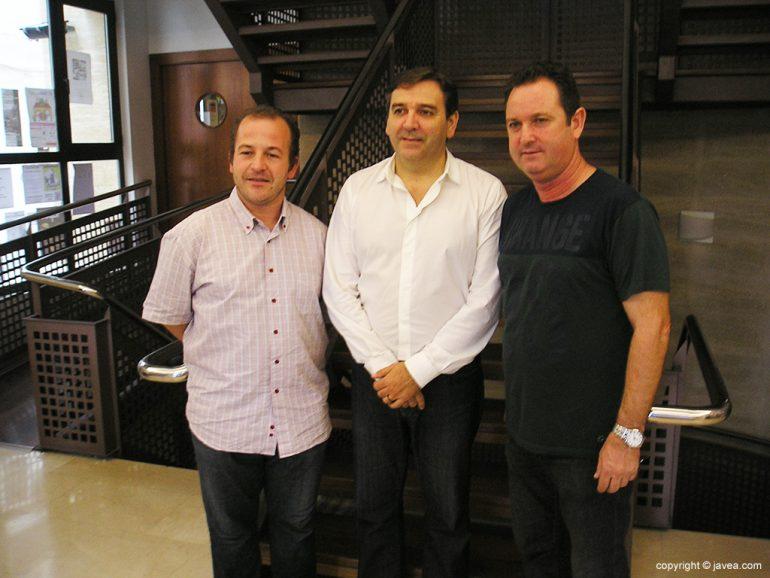 Miragall junto a Alvarez y García