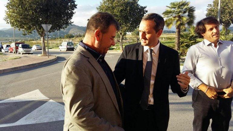 Toni Colomer con Cesar Sánchez