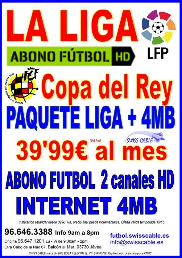 oferta abono fútbol e internet