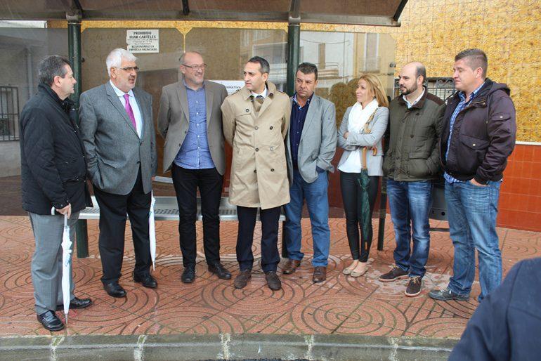César Sánchez en su visita a El Poble Nou de Benitatxell