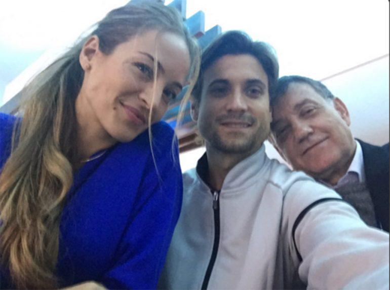David Ferrer junto a Marta Tornel