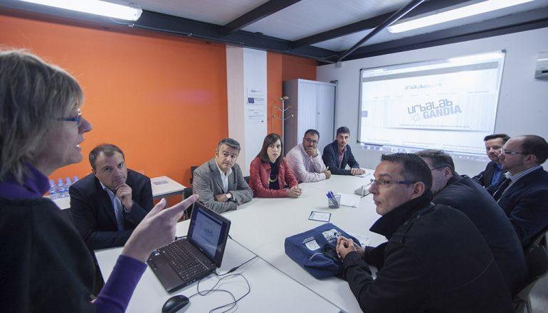 Delegación de Xàbia en la sede de Urbalab Gandia