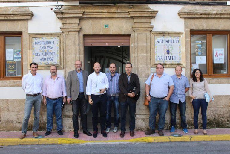 Os prefeitos de Teulada Moraira e Benitatxell em Benitatxell