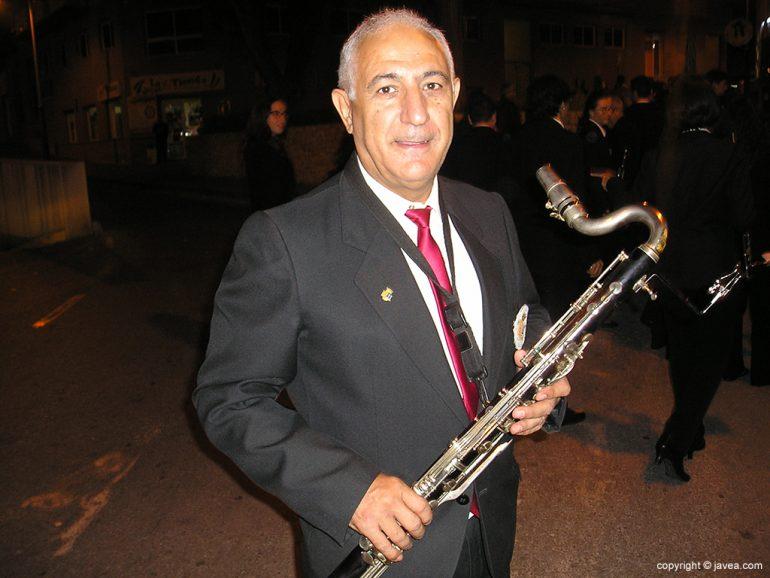 Luis Bas un veterano de la Banda de Música de Xàbia