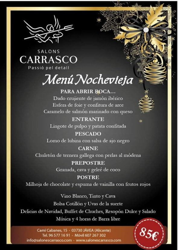 Men de nochevieja en salones carrasco j x for Menu nochevieja facil