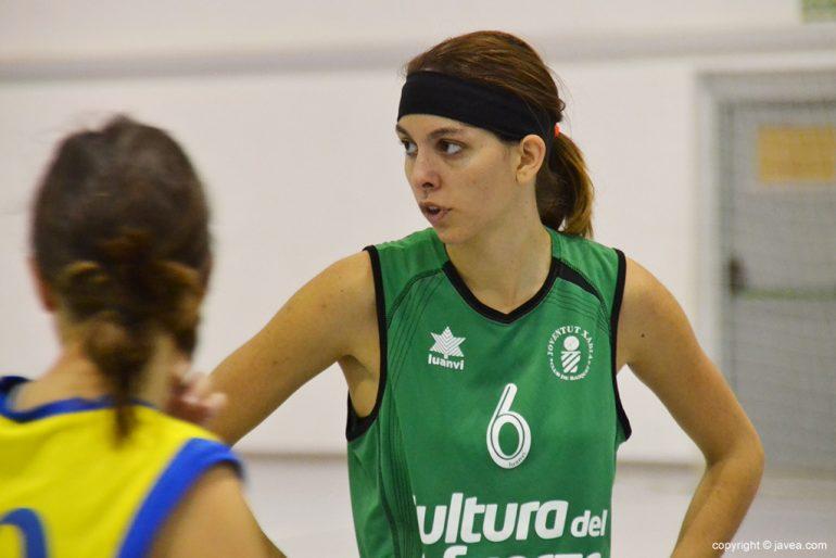 Miriam Monfort durante el partido