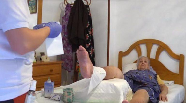 Paciente atendida por la enfermera de SVS
