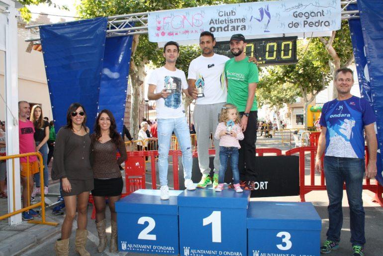 Youssef Ahatach en el podio senior
