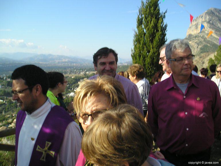 Antonio Miragall en la procesión de Santa Llúcia
