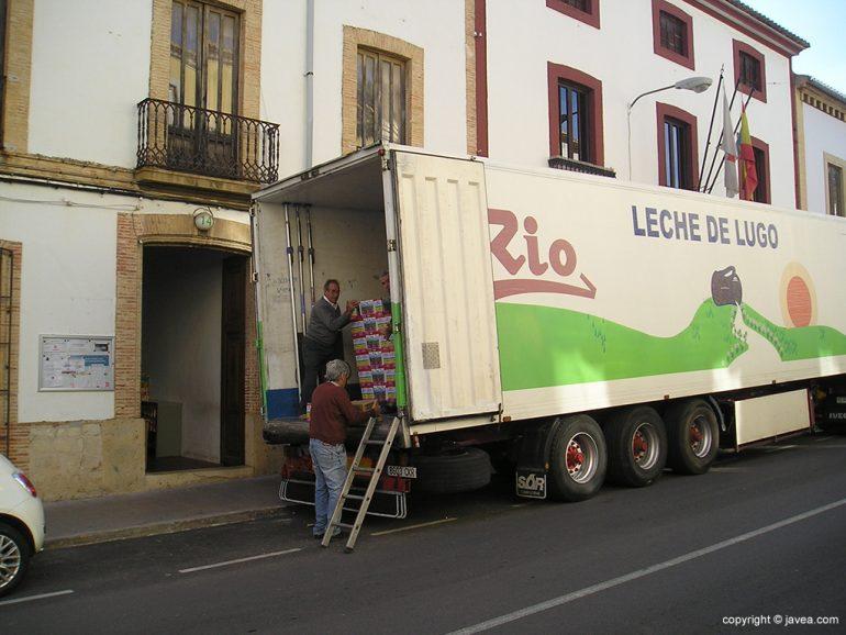 Camión del banco de alimentos